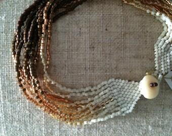 Long sun fire beaded bracelet