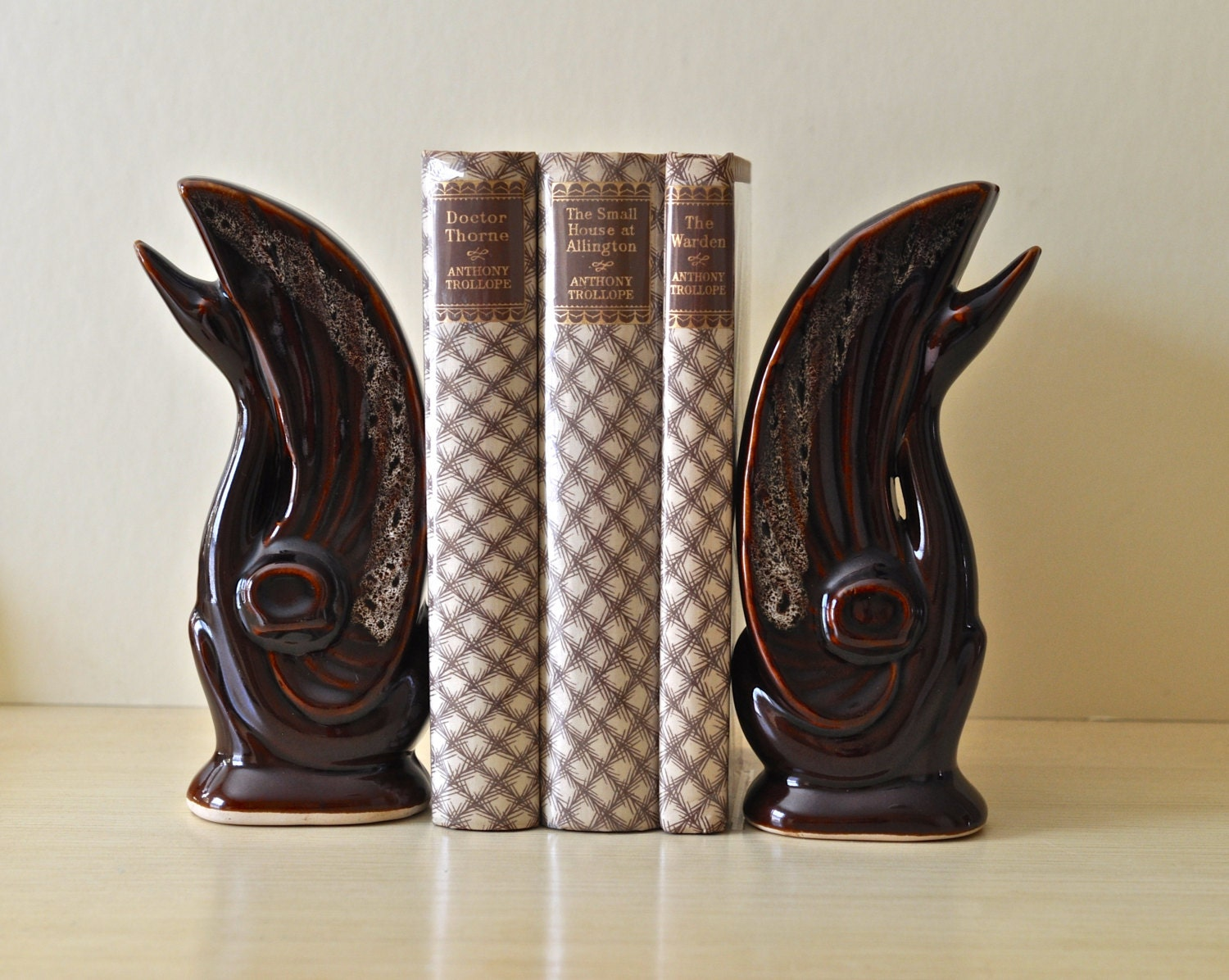 vintage swan bookends midcentury modern swan bookends ceramic