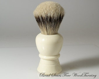 Classic 26mm Silvertip Badger Shaving Brush with Alternative Ivory Handle