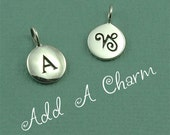Add a Charm - personalized ID initial or zodiac charm -  ONLY sold with purchase