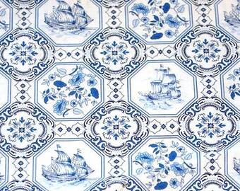 Delft Blue cotton fabric - Dutch print - Fat Quarter