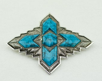 1970s Signed Sarah Coventry Inca Brooch