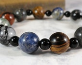 Five Elements Meditation Bracelet, Therapeutic Gemstones