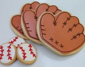 Spring Training Baseball cookie favors - one dozen