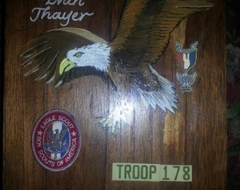 Eagle Scout hand-painted present gift box personalized