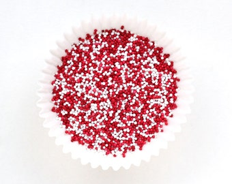 Peppermint Mix Sprinkles, Red & White Nonpareils (2 ounces) Christmas Sprinkles