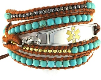 Beaded Medical Bracelet Desert Breeze