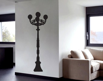 Vintage Street Lamp - Shapes Wall Decals
