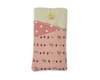 Pink Hedgehog Phone Case, Moto G4 Plus, Galaxy S8 Plus, Nexus 6P, LG G6 Case, Google Pixel XL, OnePlus 3T,  Samsung S7 Edge, Gift for Women