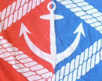 Nautical Themed Vintage Beach Towel