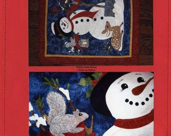 Frosty Friends #2015 Holiday Christmas Seams Like Home Snowman Quilt Pattern
