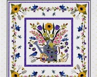 Spring Bouquet Wall Hanging P3-171 Gardening Applique Quilt Pattern P3 Designs