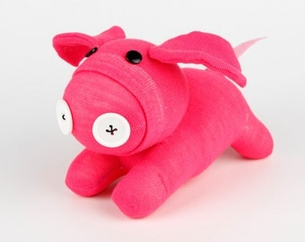 Plush Pink Pig Handmade Pink Sock Baby Pig Stuffed Animal Doll Baby Girls Toys