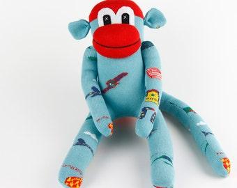 New Baby Christmas Gift New year gift Handmade Original Sock Monkey Stuffed Animal Doll Baby Toys