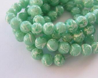 105 Green glass beads B172