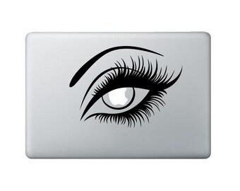 Eye Macbook Decal - Sexy Girl Laptop Decal - Eyelashes Decal