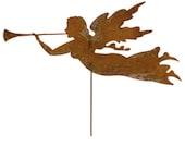 Angel Garden Stake or Wall Art / Christmas Angel /Garden Art /Garden Decor /Metal Garden Art /Hanging /Garden Ornament / Wall Hanging / Yard