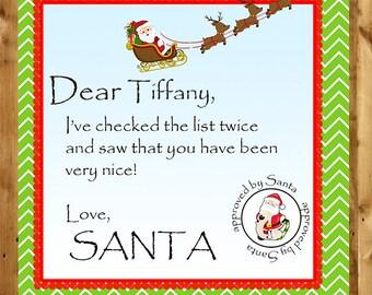 North pole letter etsy santa claus tag naughty or nice santa gift tag holiday gift tag spiritdancerdesigns Gallery