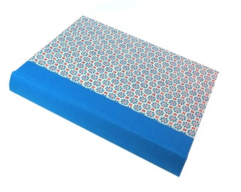 turquoise red Large Photo Album, vertical floral photo book