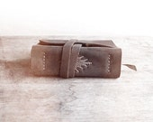 Leather Journal, Woven One, Hand bound Journal, Natural