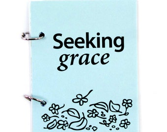 Letters to God, Christian Prayer Journal, Religious Meditation Diary - Seeking Grace in gentle blue