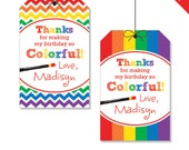Art Party - Personalized DIY printable favor tags