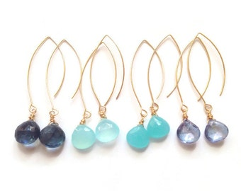 Cole Earrings in Shades of Blue