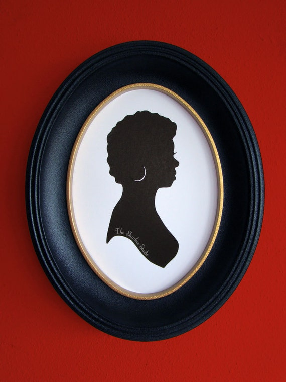 Maya Angelou Hand-Cut Paper Silhouette Portrait