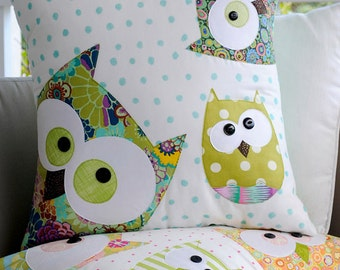 Family of Owls Applique Cushion Pattern