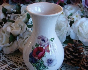 Mid Sized Ceramic Vase Adorned with a Brilliant Poppy Bouguet