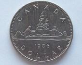 1986 Canadian Dollar Coin Nickel