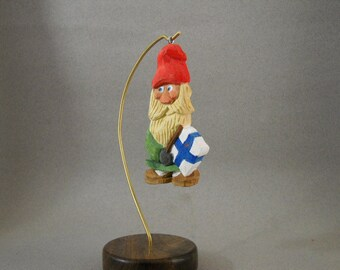 Santa with Flag of Finland Christmas ornament