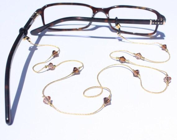 Glasses Chain || 2 Tone Topaz