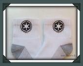 Darth Vadar Imperial Logo custom made socks for boys, newborn to men's sizes available