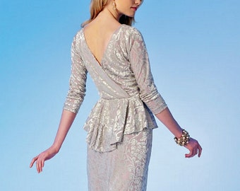 Evening Dress Pattern, Close-Fitting Stretch Knit Dress, Party Dress, McCall's Sewing Pattern 7047