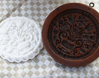 Williamsburg Floral Springerle Gingerbread Cookie Press