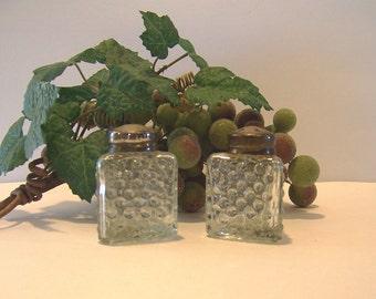 Vintage Mid Century Miniature Glass Salt and Pepper Shakers