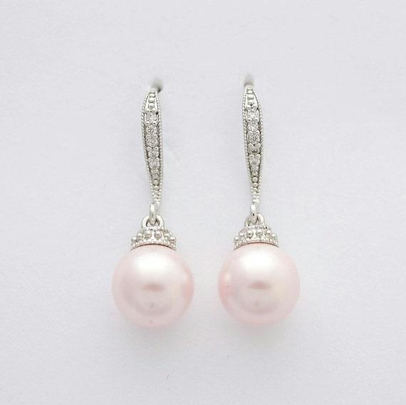 perlen ohrringe rosa