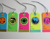 Taylored Expressions Neon Birthday Gift Tags
