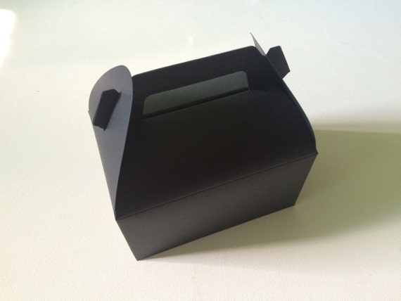 10 tote bakery boxes in black from fromsoul on etsy studio for Black box container studios