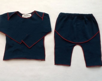 cotton lap shirt, leggings