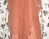 Chiffon Dress with Cape by Jack Bryan - Layered - Vintage 60s