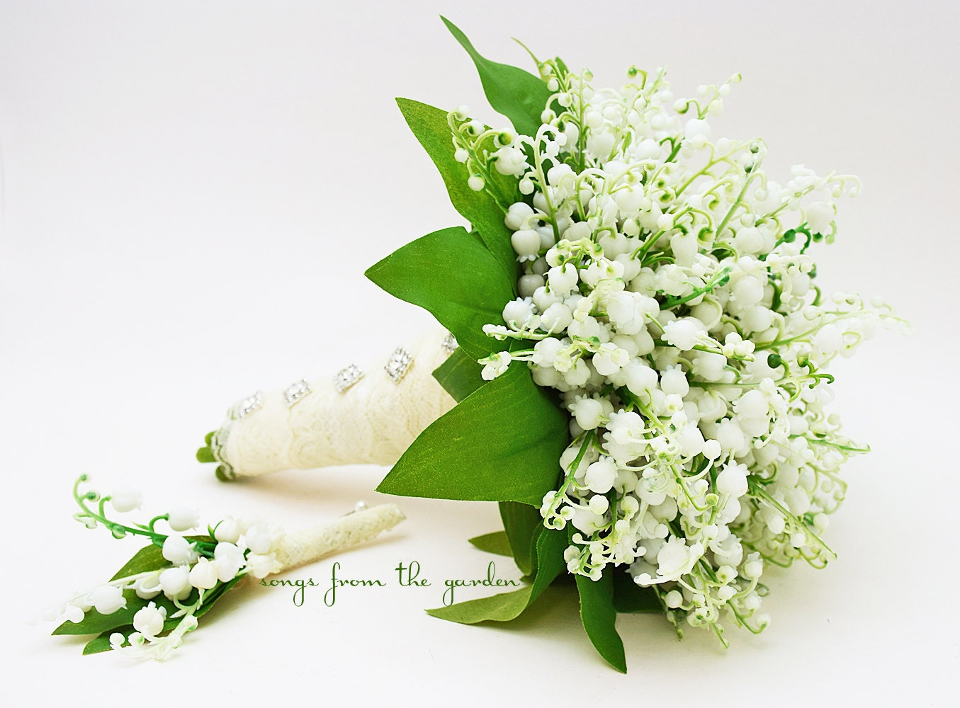 Lily Of The Valley Wedding Bouquet: Lily Of The Valley Bridal Bouquet Groom By SongsFromTheGarden