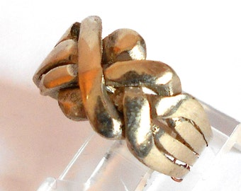 Vintage Four Band Puzzle Ring Size 10