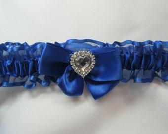 Prom garter Royal Blue sheer Wedding garter tossing Garters