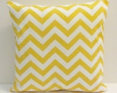 Yellow chevron pillow cover, accent pillow, throw pillow, in standard sizes,  FREE SHIPPING Canada and US