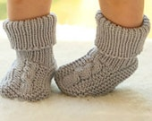 Knitted baby booties. Baby boy booties. Baby girl booties. Baby knee high socks. Baby knit socks. Baby shower gift. Handmade baby crib shoes
