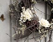 Ivory Berry Wedding Wreath - Wedding Wreath - Berry Wreath