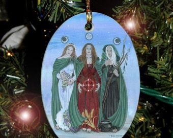 Triple Goddess Yule Ornament