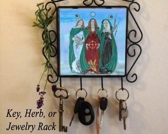 Triple Goddess Key Rack